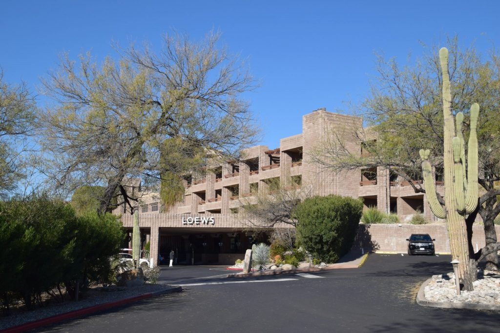front entrance and drive to Loews Ventana Canyon Resort