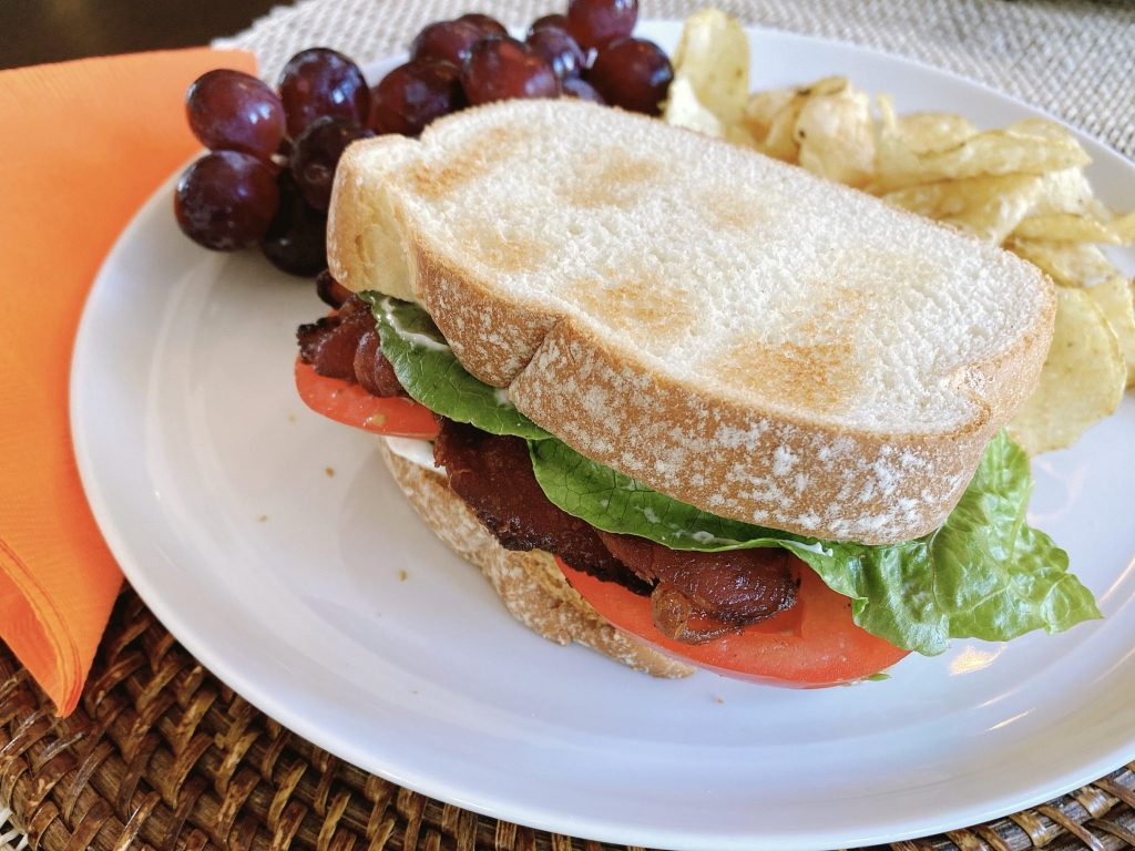 BLT made with Niman Ranch All Natural Applewood Smoked Uncured Bacon