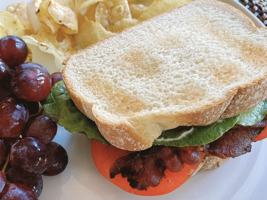 The perfect bacon lettuce and tomato sandwich