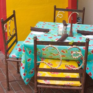 table and chairs on patio Mexican Restaurant