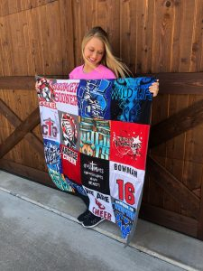 Project Repat reuses favorite tshirts to make quilts for loved ones and special occasions