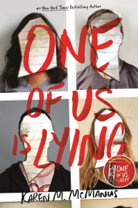 One of Us is Lying book cover by Karen M. McManus