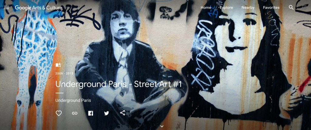 screenshot of google's street art virtual tour