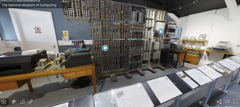 virtual tour page of the National Museum of Computing