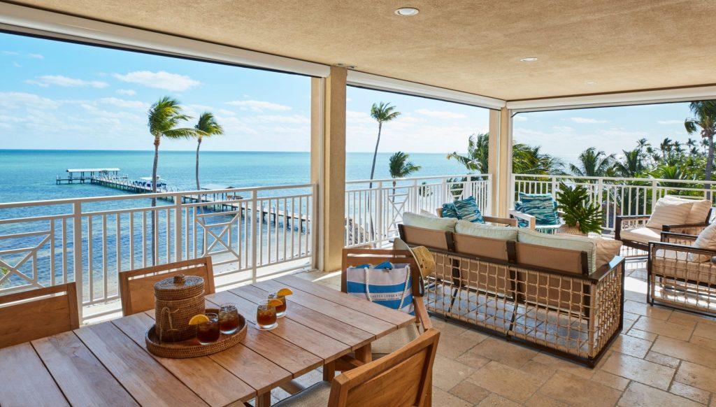 The warm trade winds blow gently through the Cheeca Resort in Islamorada, FL