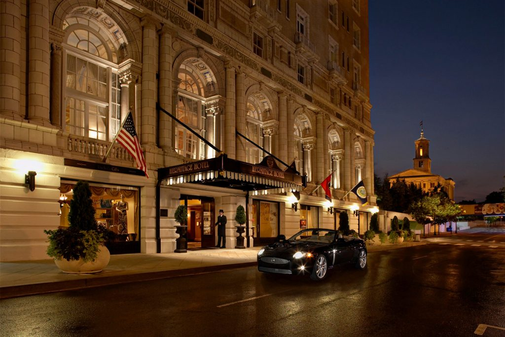 Stately and gorgeous, the Hermitage Hotel in Nashville, TN