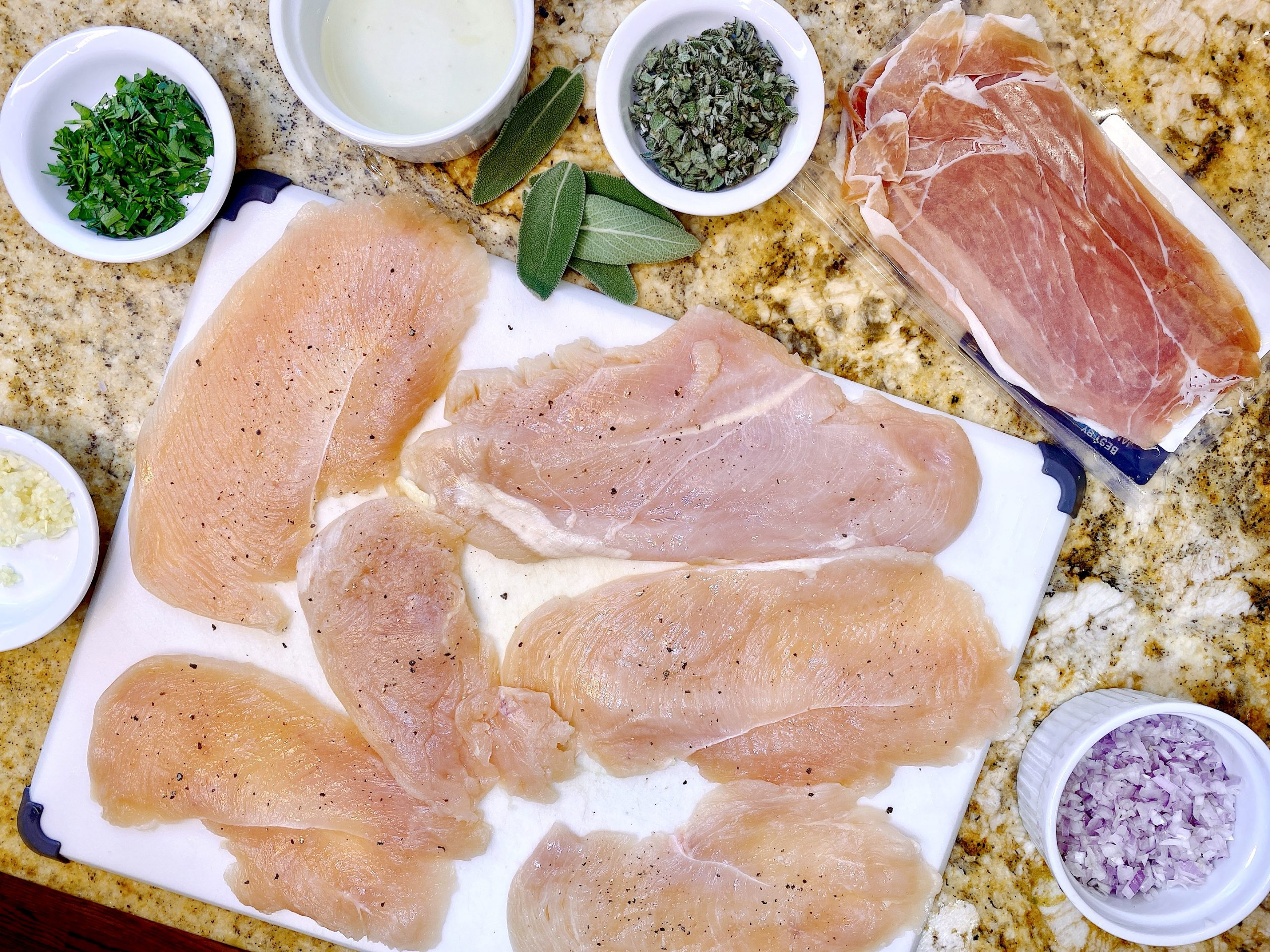 Chicken Saltimbocca ingredients