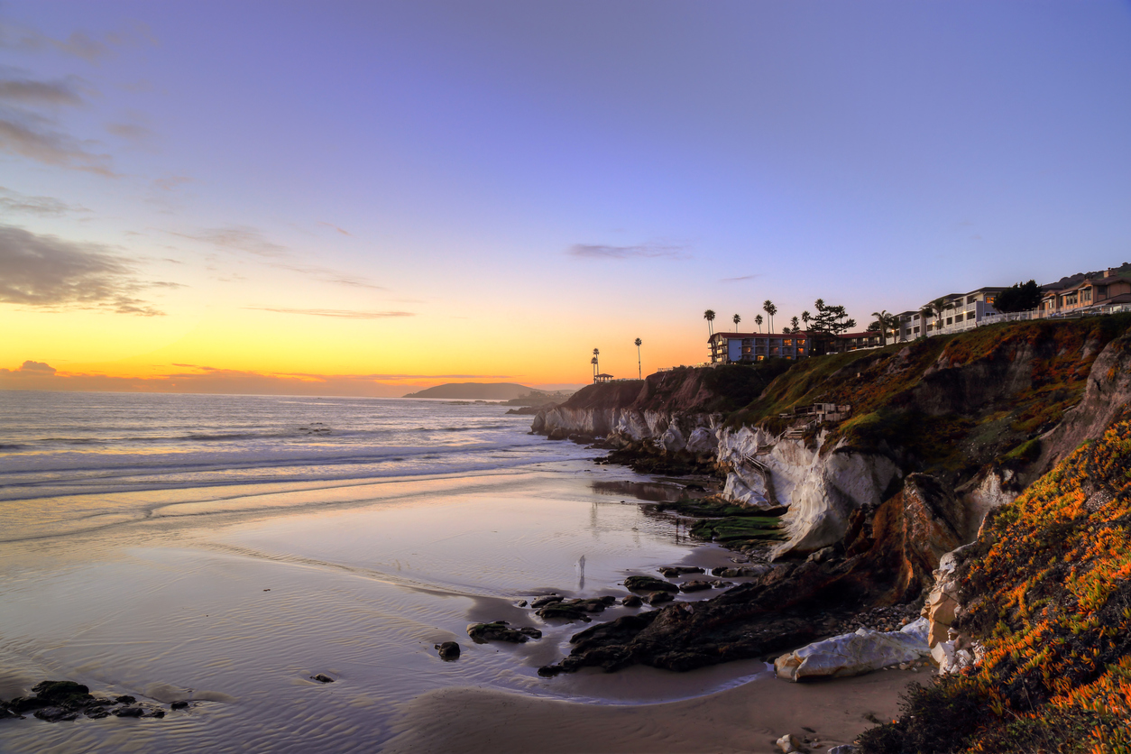 High dynamic range image of a sunset at Pismo beach, California