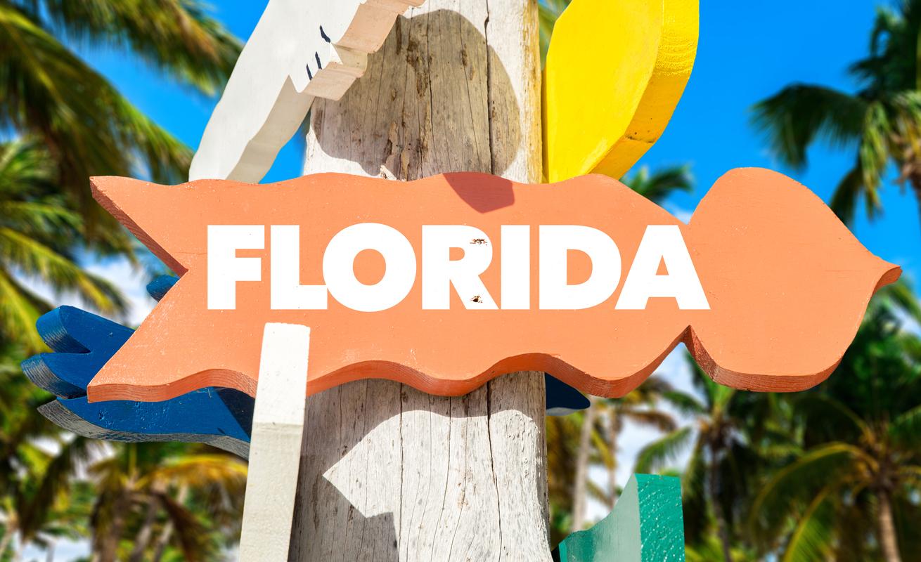 Florida directional sign