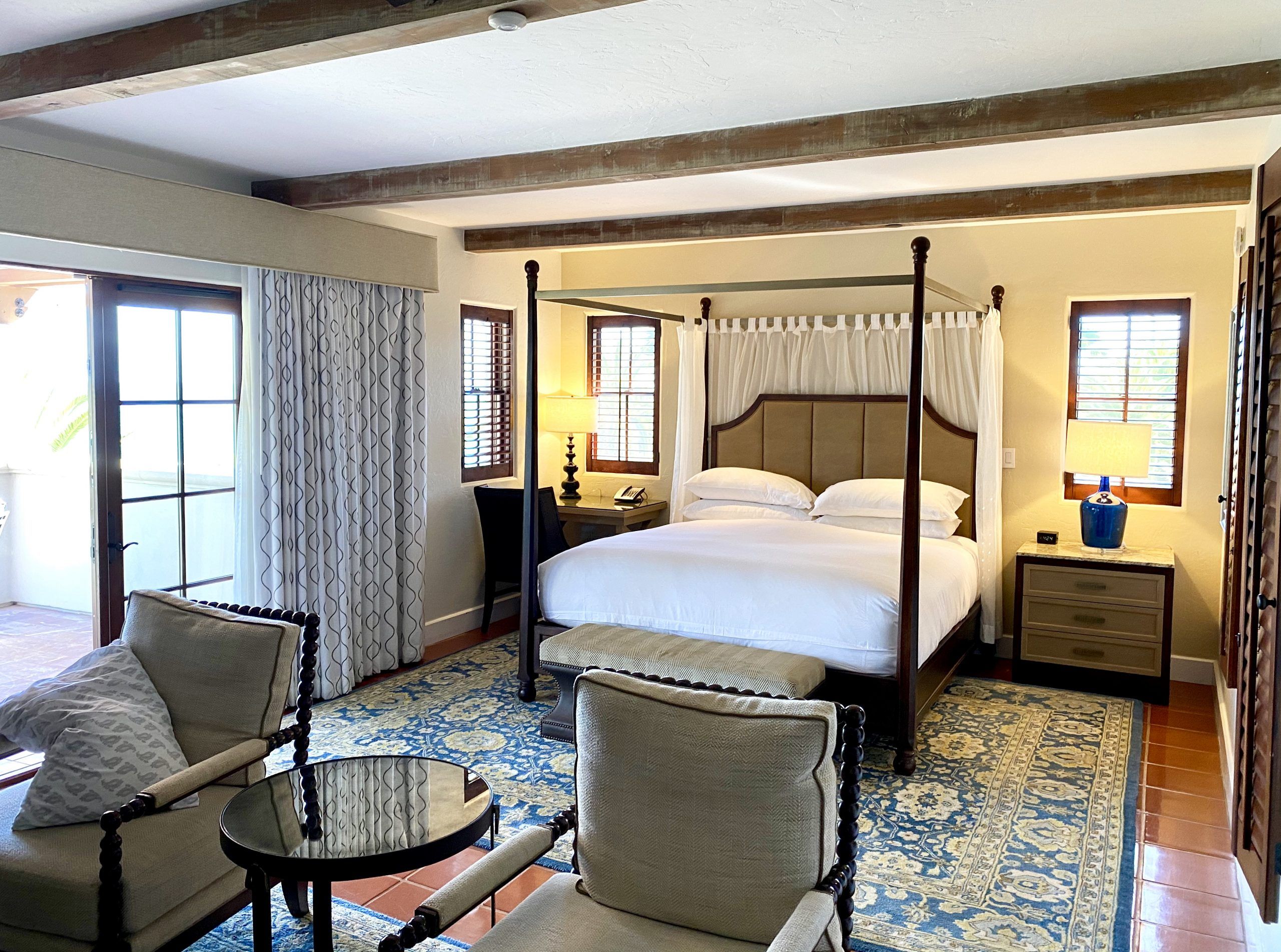 Ocean view suite interior at Ritz-Carlton Bacara Resort, Santa Barbara, CA