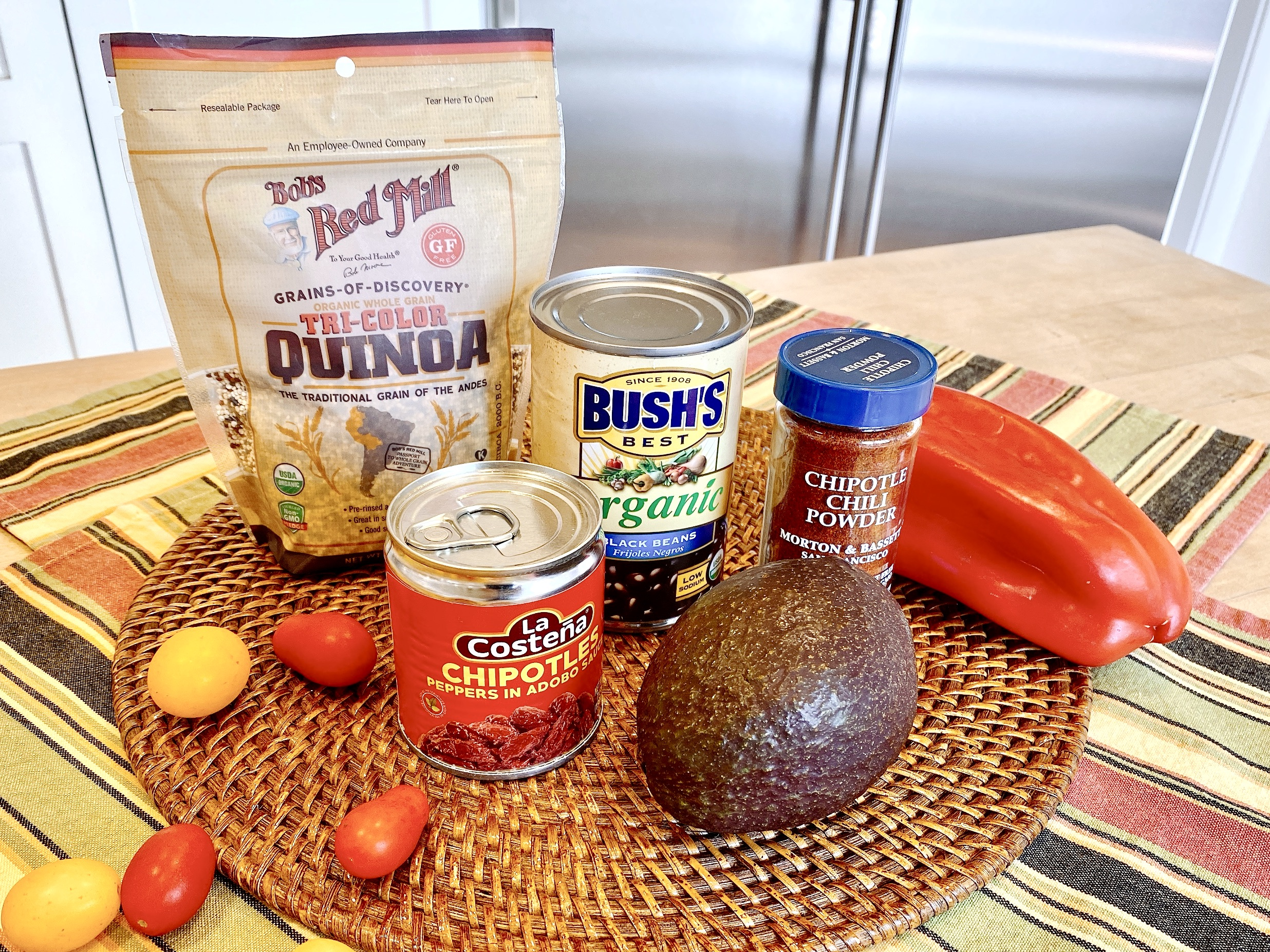 Ingredients to make Chipotle Steak Bowl with Black Beans and Quinoa can be easily found at most grocery stores
