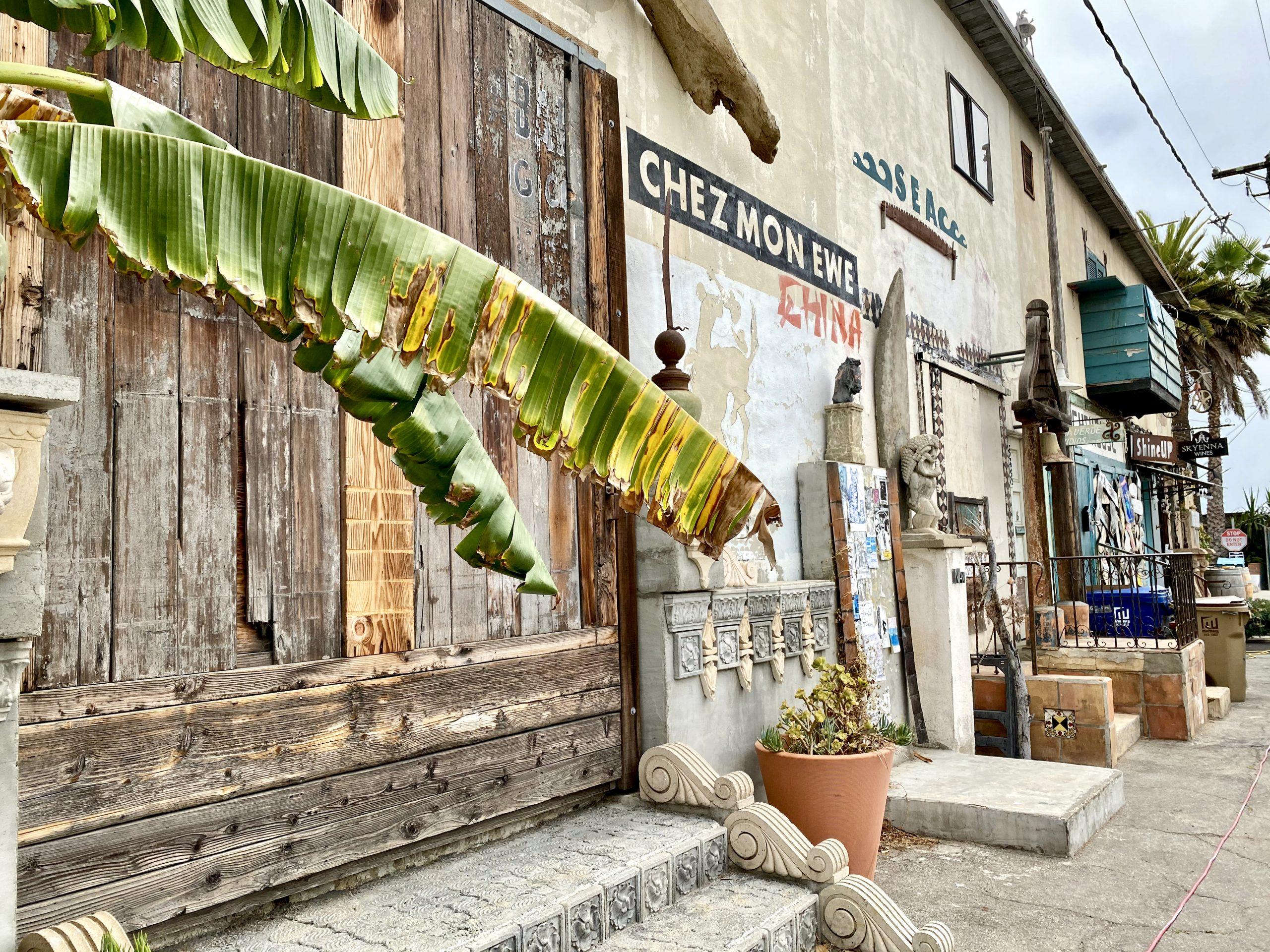 Street scene in the Funk Zone, Santa Barbara, CA
