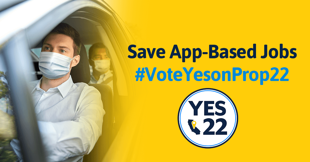 Yes on Prop 22 Protects Delivery and Rideshare Drivers