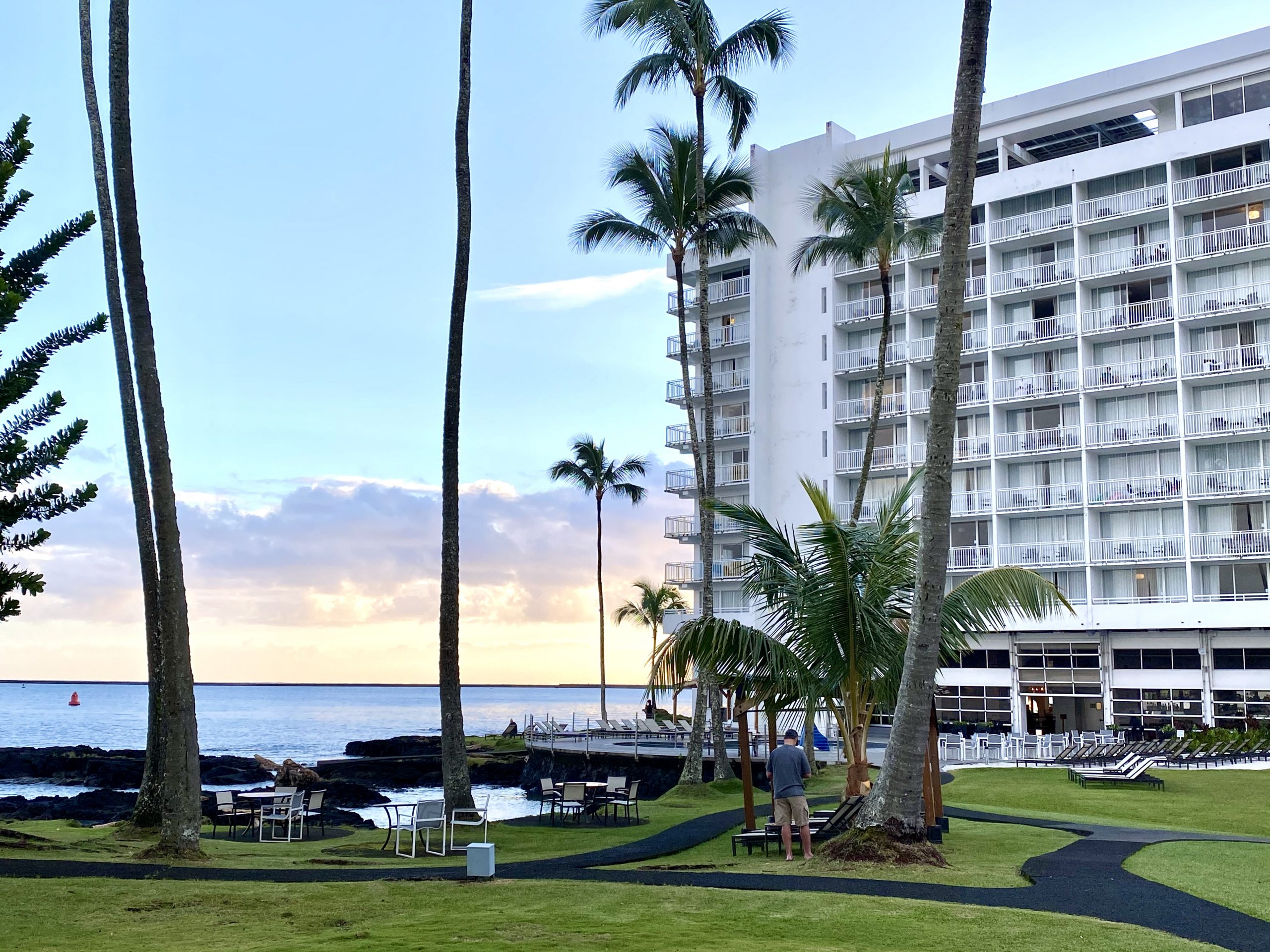 Sunrise at the Grand Naniloa Doubletree Hotel by Doubletree in Hilo, Hawaii