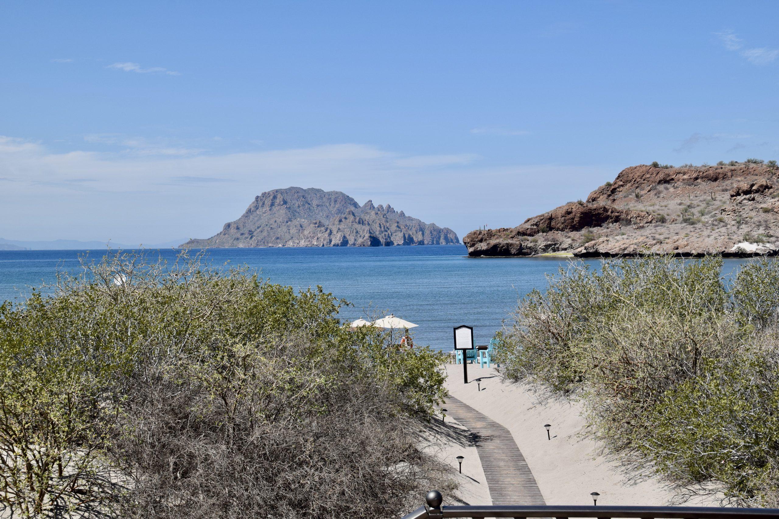 Isla Danzante as seen from Villa Del Palmar on Danzante Bay in Loreto, Mexico
