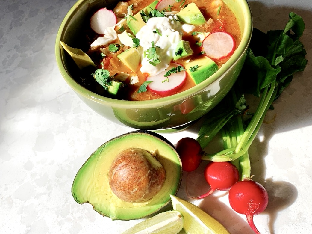 Recipe for Spicy Pork Posole from On-Pan Cookbook for Men by Jon Bailey