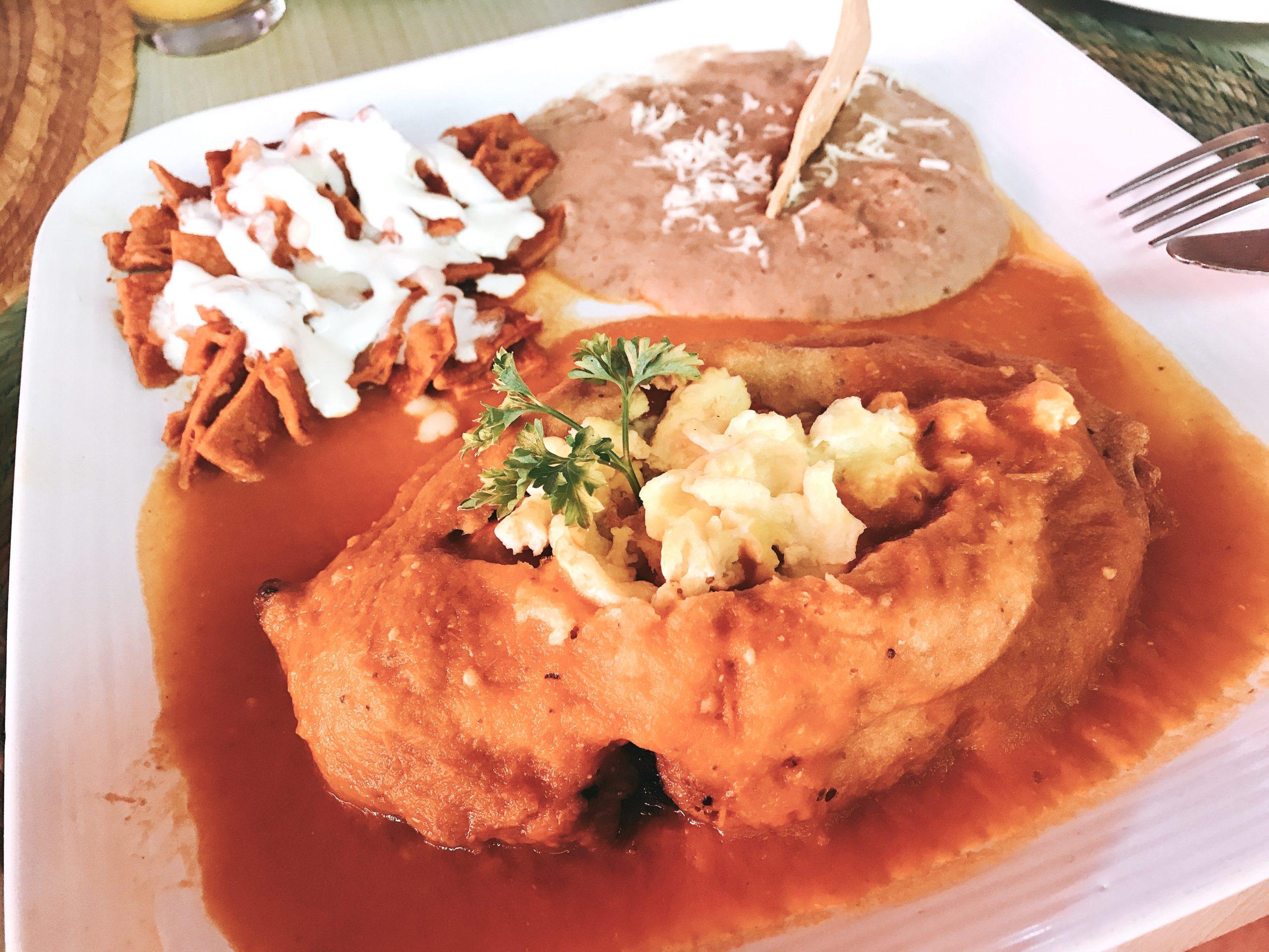 stuffed chili relleno in Loreto, Mexico