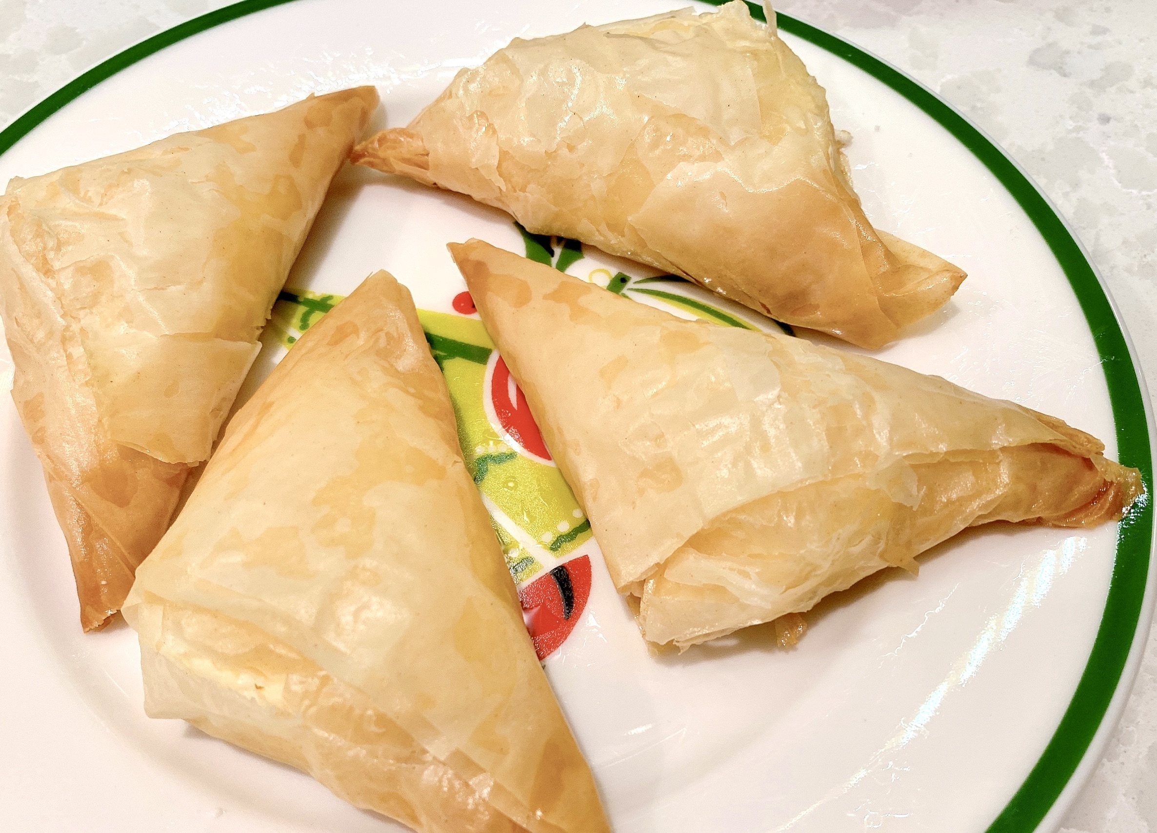 Recipe for Feta Phyllo Triangles