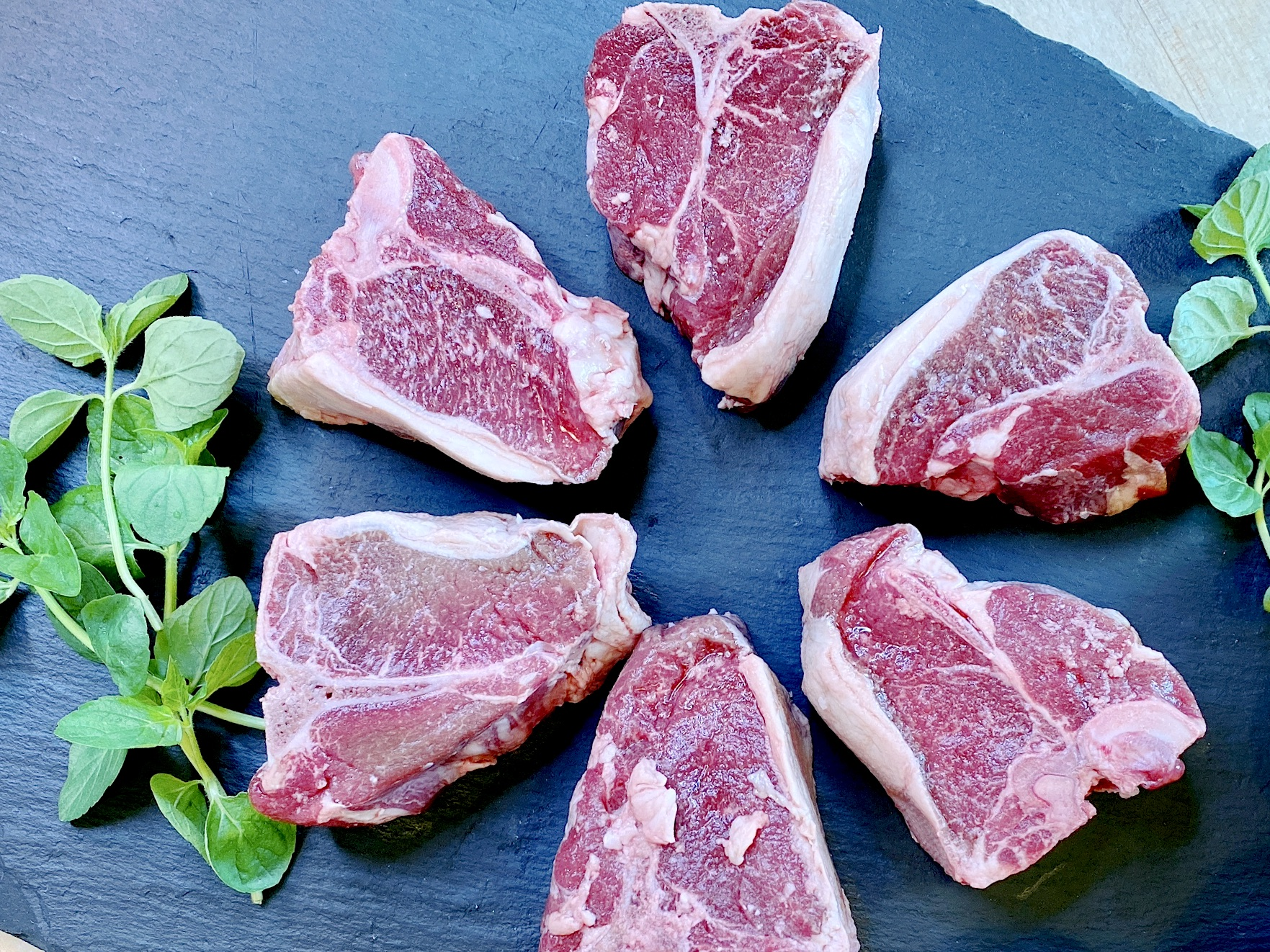uncooked lamb loin chops from Perdue Farms and Niman Ranch