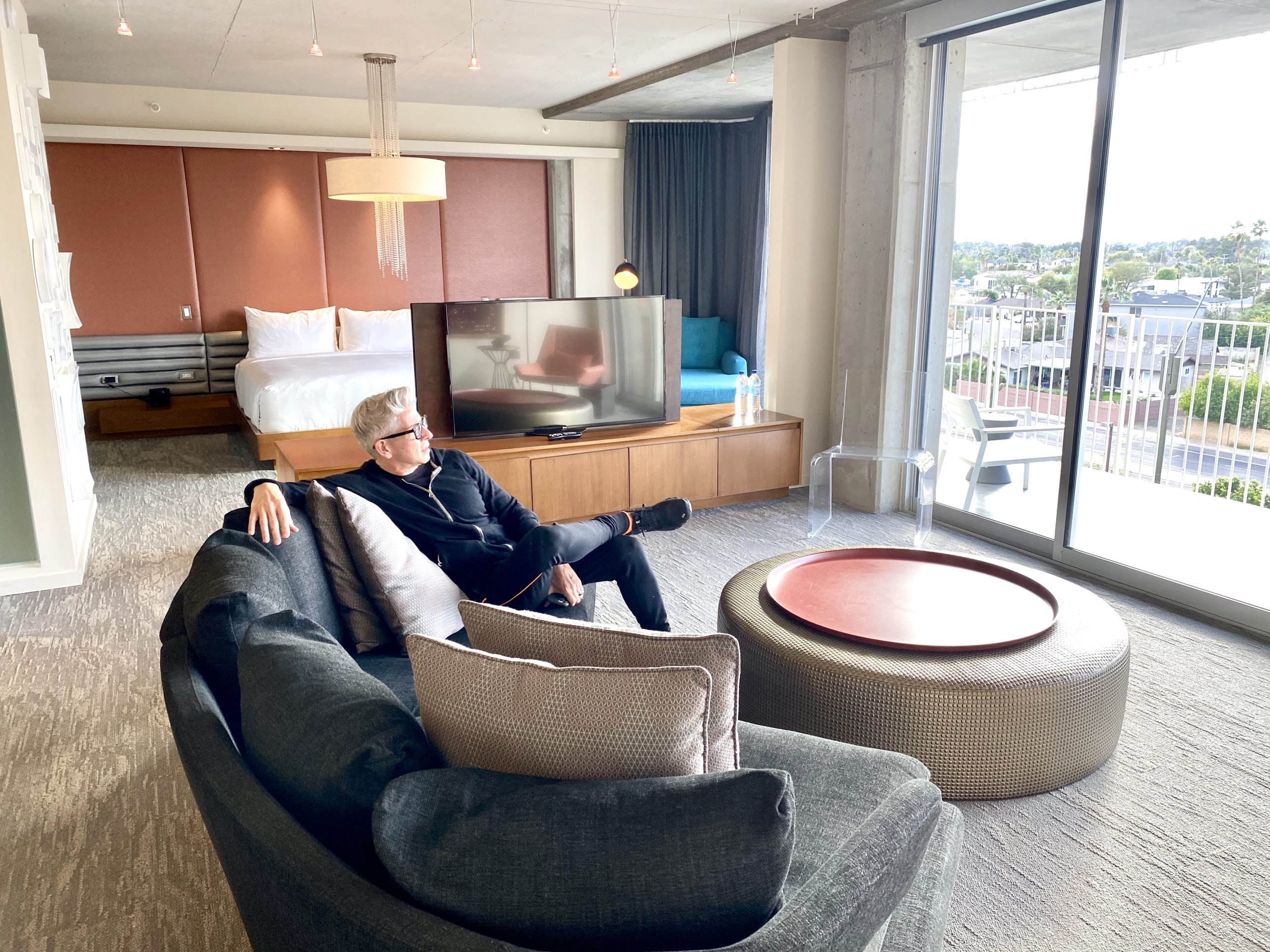 Tower Suite living room at Hotel Valley Ho
