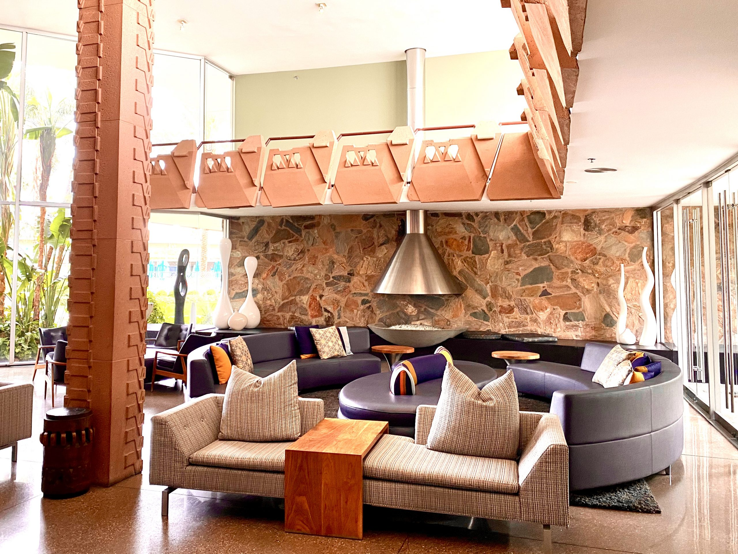lobby seating area a the Hotel Valley Ho in Scottsdale, Arizona