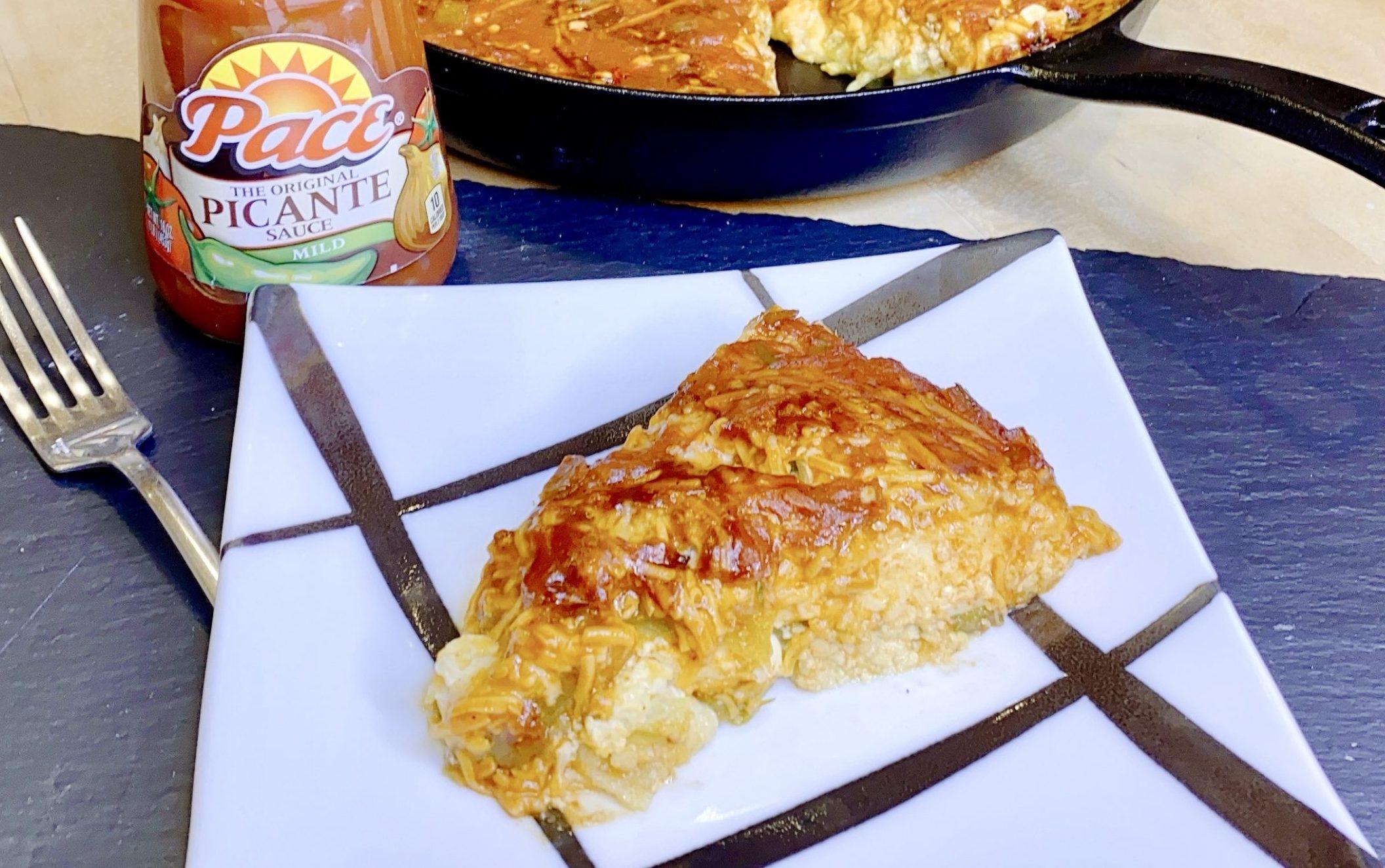 Cheesy Chile Relleno Casserole with Pace® Picante Sauce