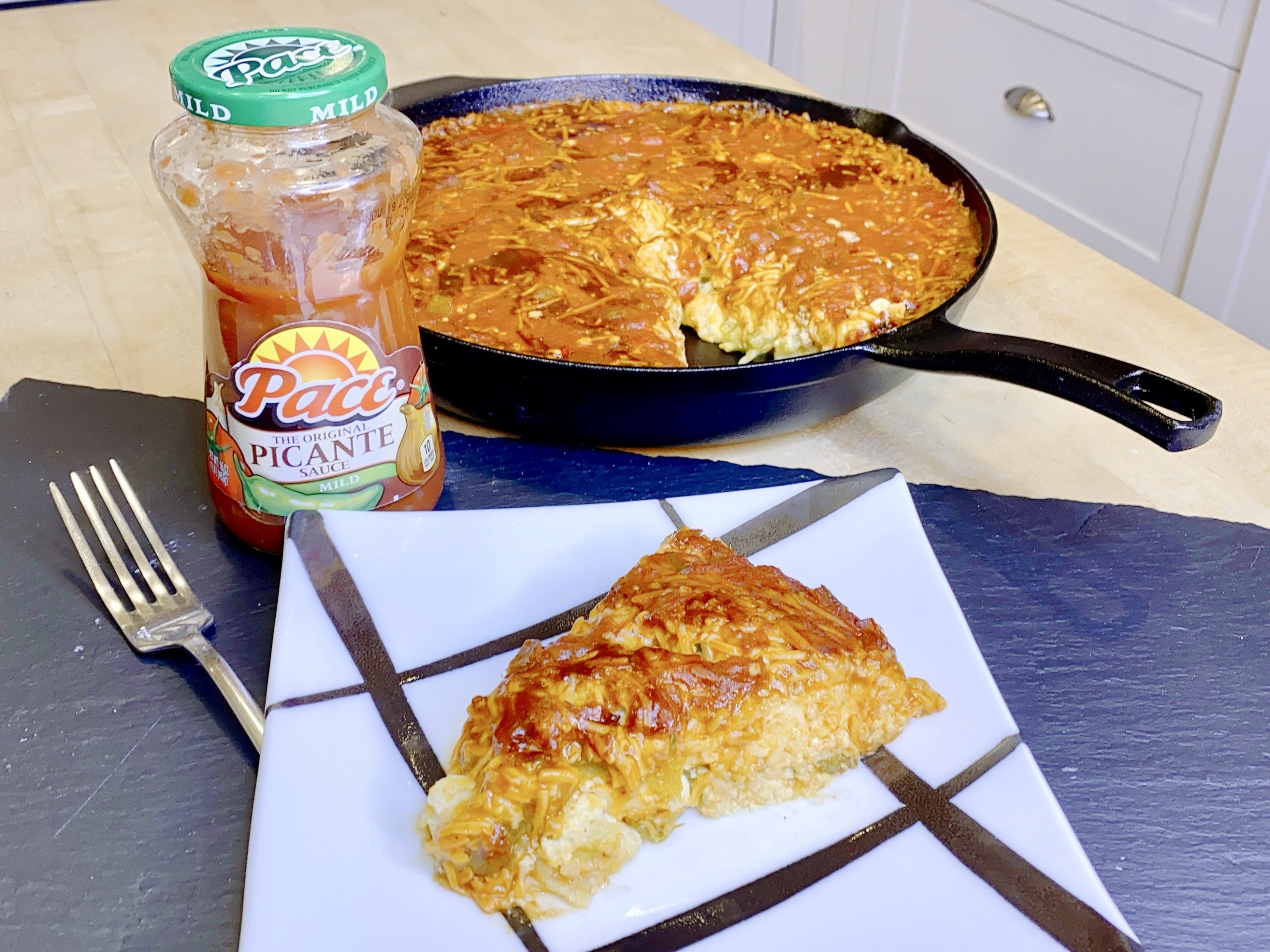 Cheesy Chile Relleno Casserole with Pace® Picante Sauce