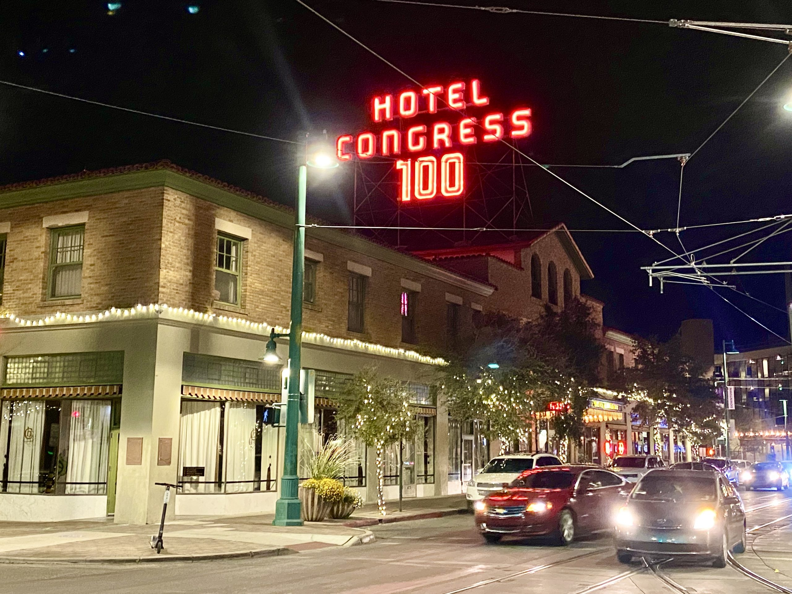 Hotel Congress in downtown Tucson, Arizona is more than 100 years old.