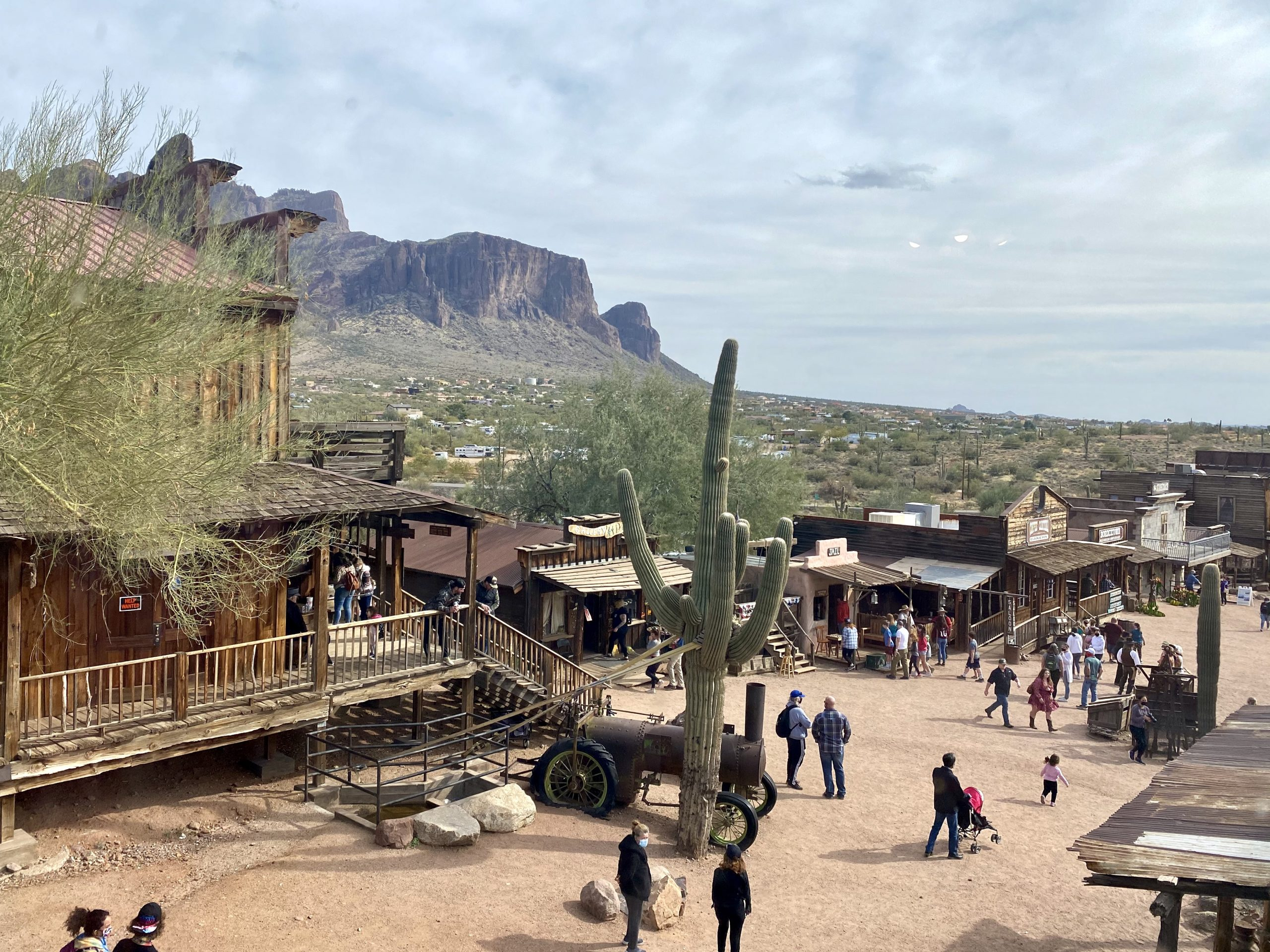 The Old West town of Goldfield Ghost Town welcomes guests in Mesa, Arizona
